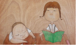 小人物 幸福日記 傅馨逸木紋油畫創作個展